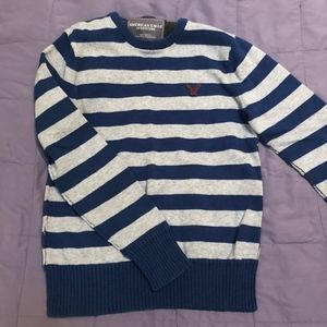 American Eagle Men's Striped Sweater Size M